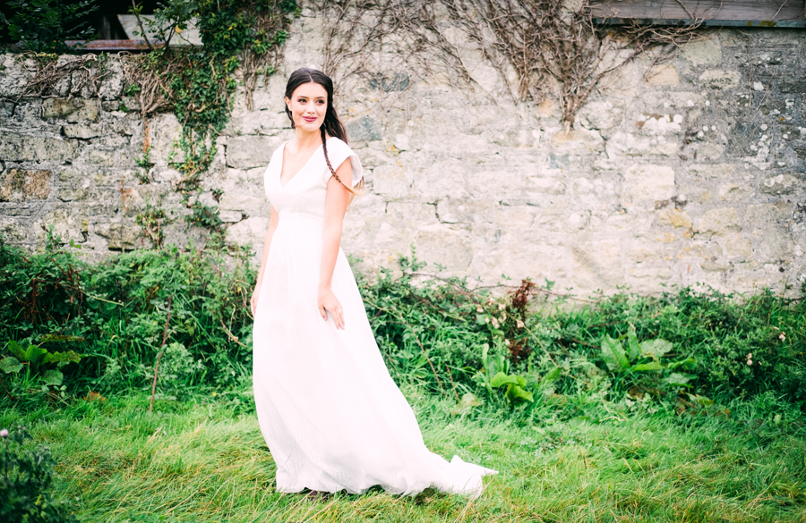 Eco Friendly Rural Farm Wedding Ideas from Cornwall, Captured by Verity Westcott Photography, Dress by Roamer Rose