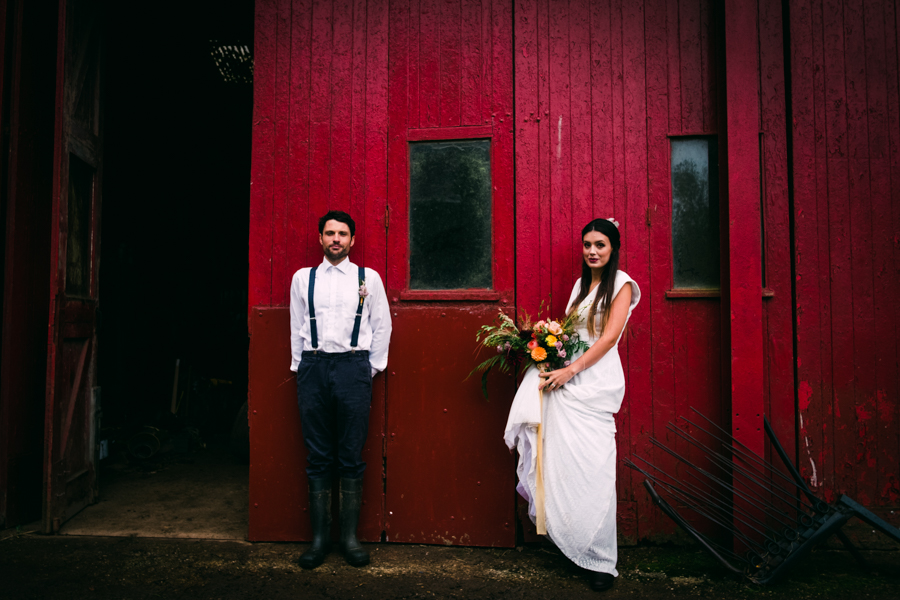 Eco Friendly Rural Farm Wedding Ideas from Cornwall, Captured by Verity Westcott Photography at Besowsa Farm
