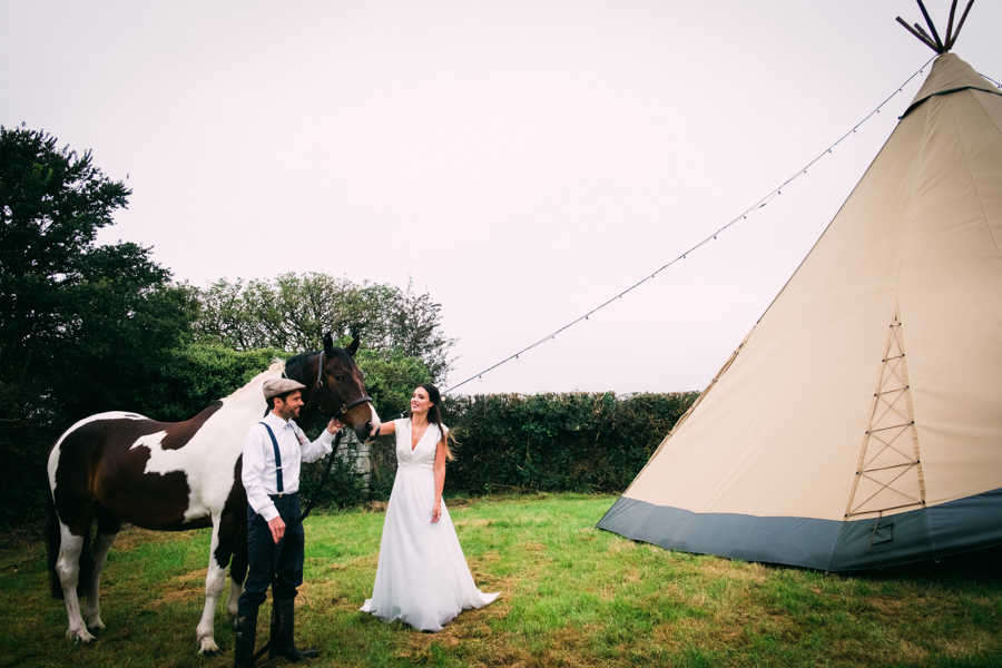 Eco Friendly Rural Farm Wedding Ideas from Cornwall, Captured by Verity Westcott Photography
